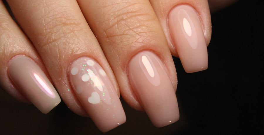 soft pink gel nails